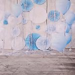 backdrop achtergrond party blue balloon
